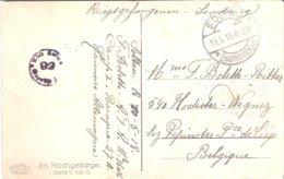 Carte De Prisonnier De Soldat Belge SOLTAU 15/05/1918 - Militaria