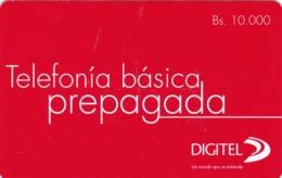 Venezuela, Digitel,  Telefonía Básica Prepagada, 2 Scans. - Venezuela