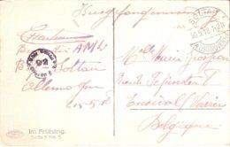 Carte De Prisonnier De Soldat Belge SOLTAU 20/05/1918 - Militaria