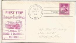 ESTADOS UNIDOS USA 1950 HIGHWAY POST OFFICE MUSKOGEE & OKLAHOMA CITY  AUTOBUS AMBULANTE POSTAL - Bus
