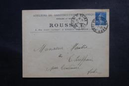 FRANCE - Enveloppe Commerciale De Nogent / Seine Pour Thieffrain En 1923 , Affranchissement Type Semeuse - L 47090 - Storia Postale