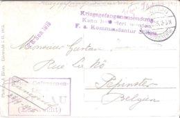 Carte De Prisonnier De Soldat Belge SOLTAU 03/10/1915 - Militaria