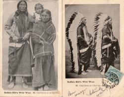INDIEN - INDIAN - Buffalo Bill's Wild West Show - Lot De 6 Cartes Postales - Etats-Unis