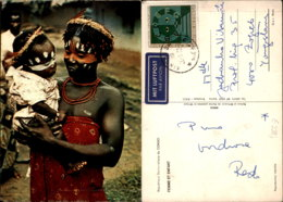 FEMME ET ENFANT,CONGO POSTCARD - Congo - Kinshasa (ex-Zaïre)