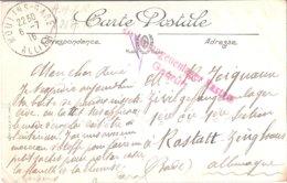 Carte Envoyée à Un Prisonnier En Allemagne(Rastadt) - Militaria