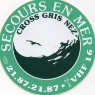 Autocollant SECOURS EN MER CROSS GRIS NEZ - Aufkleber