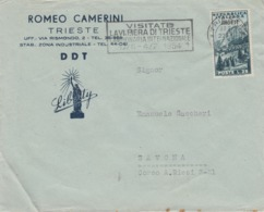 A/4  -STORIA POSTALE-BUSTA - TRIESTE - ROMEO CAMERINI - AMB-FTT - Somalia