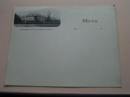 Etablissement Des EAUX Minérales De GENVAL > BLANCO > MENU Anno 191? > Format 23,5 X 18 Cm. ( Voir / See Photo ) ! - Menus