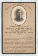 Souvenir Mortuaire Avec Photo : Mort Pour La France - Pierre  ... Francez Attaché Ambassade Berlin 1914 Vic Sur Aisne - Devotion Images
