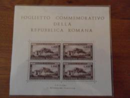 ITALIA REPUBBLICA FOGLIETTO COMMEMORATIVO DELLA REPUBBLICA ROMANA - Blocks & Sheetlets