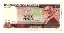 Billet 10 PESOS CARAIBES - Cuba