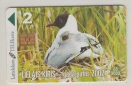 LATVIA 2002 BIRD SEA GULL - Otros
