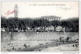 CPA (Réf : O428) 14.NICE (06 ALPES-MARITIMES) Le Pavillon Et La Tour Saint-François (Très Animée, Publicité AROME MAGGI) - Monuments, édifices