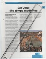 19/11 Fiche Jeux Olympiques 26,5 X 20 Cm 2 Scans ATHENES 1896 Grece Griekeland Greece Spiridon Louys Marathon - Zonder Classificatie