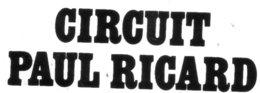 Autocollant CIRCUIT PAUL RICARD - Aufkleber