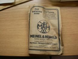 Maribor Tvornica Glazbala I Harmonika Meinel Herold Mali Katalog 40 Pages - Reclame