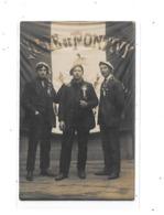 56 - Carte Photo PONTIVY : Conscrits Devant Le Drapeau De La Ville - Pontivy