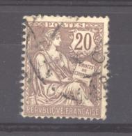 0ob  0135  -  France  :  Yv  126  (o) - 1900-02 Mouchon
