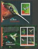 UGANDA 2014 BIRDS HUMMING BIRDS SET OF 2 M/SHEETS MNH - Uganda (1962-...)