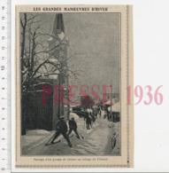 2 Scans Presse 1936 Village Du Villaret Chasseurs Alpins ?? Omnibus à L'Impériale Marchands De Parapluies 223CHV19 Le - Vecchi Documenti
