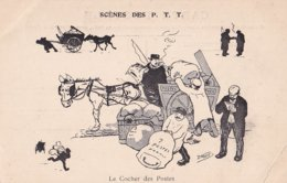 Scéne Des P.T.T. Le Cocher Des Postes Illustrateur D Moret Coin Corné Cf Scan - Postal Services