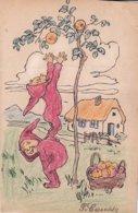 C Causse Lutins Cuillant Des Fruits - Other Illustrators