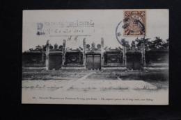 CPA CHINE PORTE De L'EMPEREUR AUX TOMBEAUX SI LING PRES PEKIN  TIMBRE Et TAMPON DATEE 6 AOUT 1908 ECRITE - Cina