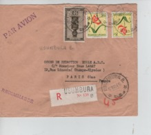 CBPN99/ Ruanda - Urundi TP 159-193(2) S/L.Avion Recommandée C.Usumbura 17/11/1954 > Paris - Ruanda-Urundi