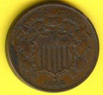 "2 Cents ""Union Shield""1864 - Emissioni Federali"