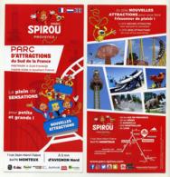 Flyer Parc D'attractions Spirou Provence à Monteux (84, France) - Programmi