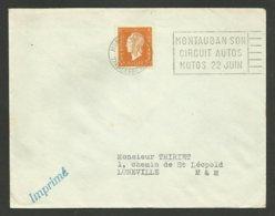 TARN ET GARONNE / Theme Automobile & Moto / Flamme MONTAUBAN Son Circuit Autos Motos 22 Juin / 1952 - Marcophilie (Lettres)