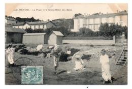 CPA 83 - BANDOL - LA PLAGE ET LE GRAND HOTEL DES BAINS - Bandol
