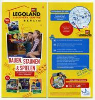 Flyer Allemand 2019 (4 Volets) Legoland Discovery Centre Berlin (Voir 2 Images) Lego Allemagne Germany Deutschland - Programmi