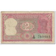Billet, Inde, 2 Rupees, 1977-1981, Undated (1977-81), KM:53e, B - India