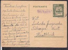 "Ganzsache Generalgouvernement  Landpoststempel  ? "" Ruda Rozaniecka "" - Lettres & Documents"
