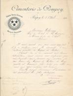 Cimenterie De Pompey , Meurthe Et Moselle ,courrier Illustré De 1902 - Frankrijk