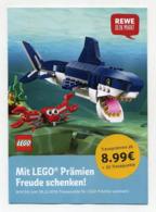 Dépliant Publicitaire Allemand (4 Volets) Pour Produits Lego. Magasins Rewe. Voir 2 Images Allemagne Germany Deutschland - Reclame