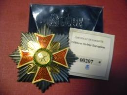 Réplique Exacte De L'ordre De L' Aigle Blanc, Pologne 75 Mm Pour 106 Grammes Par Gode Avec Certificat Garantie - Sonstige Länder