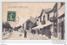 """Cpa Réf-  JP-O-883 (  Dép-44- à St-BREVIN-les-PINS )   Route De Mindin  """""""" à Droite Le Café-Restaurant """" - Saint-Brevin-les-Pins"""