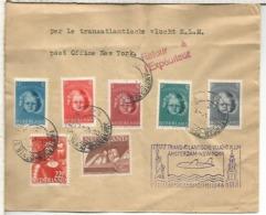 HOLANDA PRIMER VUELO KLM A NEW YORK 1946 - Correo Aéreo