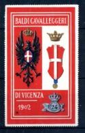 ERINNOFILIA /  Vecchi Erinnofili Cavalleggeri Vicenza 1902 - Erinnofilia