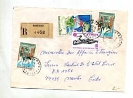 Lettre Recommandée Montargis Sur Europa Florent - Marcophilie (Lettres)