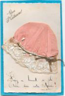BONNET Sainte CATHERINE Rose à Dentelle Et Petits Glands - Mechanical