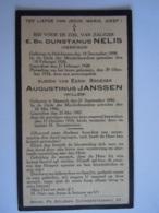 Doodsprentje Minderbroeders Dunstanus Nelis Henrikus Helchteren 1898 Augustinus Janssen Willem Maaseik 1886 Ongeval 1934 - Andachtsbilder