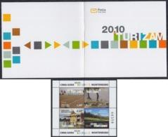 Montenegro 2010 Tourism - Landscapes, Booklet, MNH (**) Michel 239-242 - Montenegro