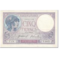 France, 5 Francs, Violet, 1918, 1918-07-02, TTB, Fayette:03.02, KM:72a - 1871-1952 Anciens Francs Circulés Au XXème