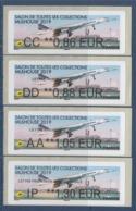 = Vignettes Salon De Toutes Les Collections Mulhouse 2019 Concorde 0.86€ 0.88€ 1.05€ Et 1.30€ Neufs - 2010-... Vignettes Illustrées