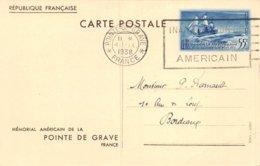 PIE-Z AR-19-1726 : ENTIER POSTAL POINTE DE GRAVE. MEMORIAL AMERICAIN 1938 - Autres