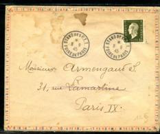 MAURY N° 690 - DULAC 1fr20 SEUL SUR ENVELOPPE OUVERTE IMPRIME 2° ECHELON OB FOIRE PARIS DU 8/9/1945 - 1944-45 Marianne Of Dulac