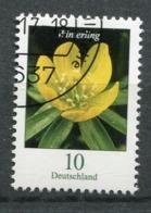 """Germany 2017 Michel Nr.3314 Bogenmarke """"Freimarke,Blumen-Winterling (Eranthia Hyemalis)""""1 Wert Used - Pflanzen Und Botanik"""